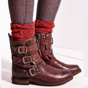 Frye Shoes - Frye Valerie Shearling Strappy Ankle Boot 9